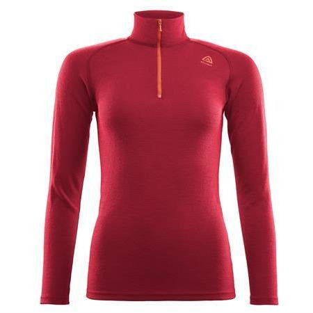 Ženska volnena majica Aclima WarmWool Mock Neck W (Chilli Pepper)