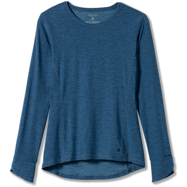 Ženska majica Royal Robbins Women's Bug Barrier Tech Travel Long Sleeve (Stellar Heather)