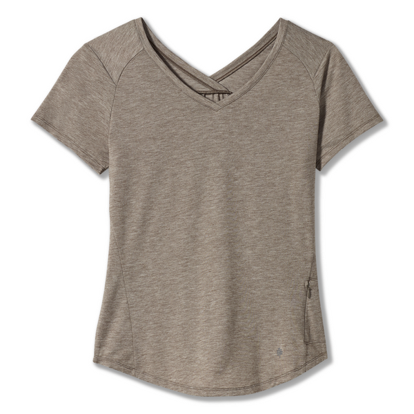 Ženska majica Royal Robbins Women's Round Trip Drirelease® Short Sleeve (Light Taupe Heather)