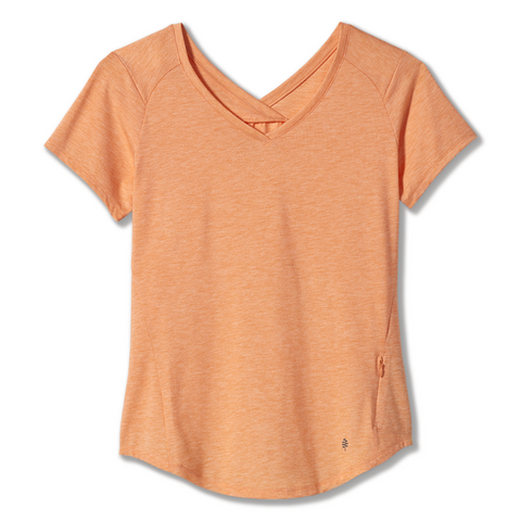 Ženska majica Royal Robbins Women's Round Trip Drirelease® Short Sleeve (Cantaloupe Heather)