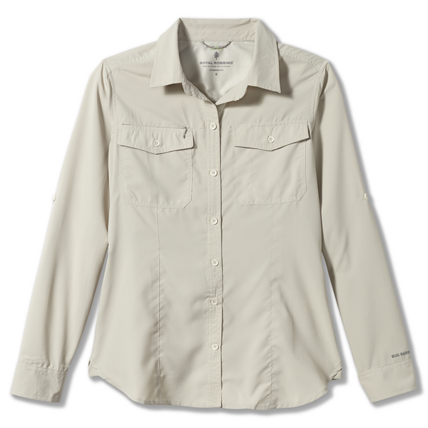 Ženska srajca Royal Robbins Women's Bug Barrier Expedition LS Shirt (Soapstone)