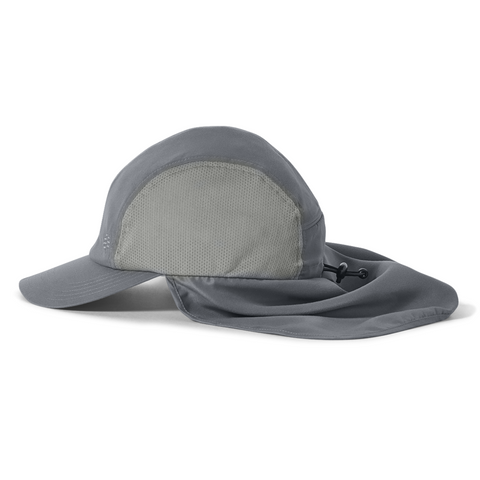 Kapa Royal Robbins Bug Barrier Convertible Sun Cap (Light Pewter)