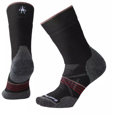 Ženske nogavice Smartwool PhD®Outdoor Medium Crew Socks (Black-Tibetan Red)