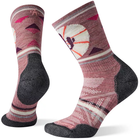 Ženske nogavice Smartwool Wm's PhD®Outdoor Light Pattern Crew Socks (Nostalgia Rose)