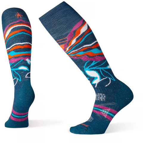 Ženske nogavice Smartwool Wm's PhD® Ski Medium Pattern Socks (Deep Marlin)