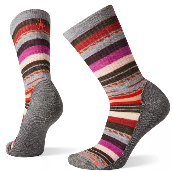 Ženske nogavice Smartwool Wm's Hike Light Margarita Crew Socks (Light Grey-Moonbeam)