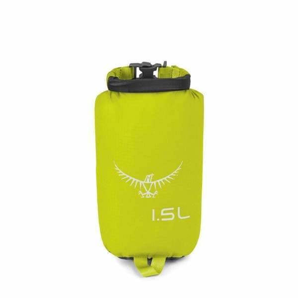 Nepremočljiva vreča Osprey Ultralight Drysack 1.5 L (Electric Lime)