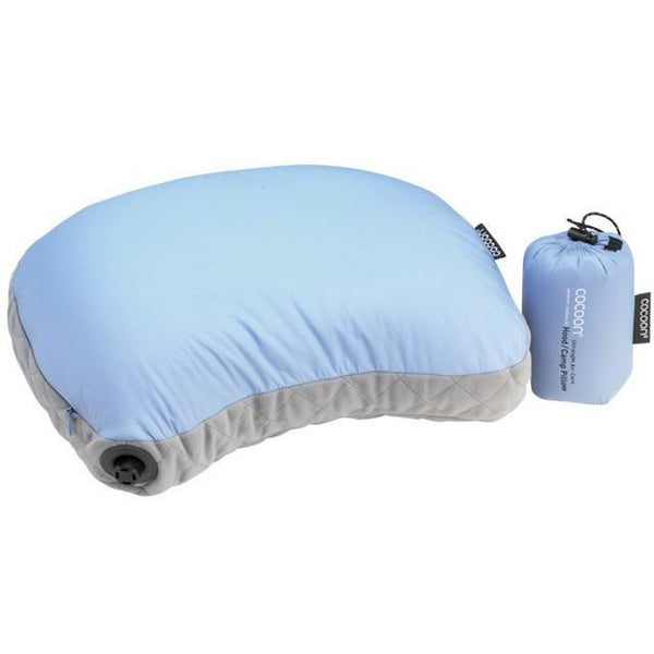 Vzglavnik Cocoon Air-Core Hood/Camp Pillow (Light Blue/Grey)