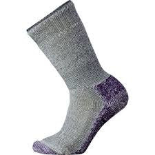 Ženske nogavice Smartwool Mountaineer Extra Heavy Crew Socks (Mountain Grey-Mountain Purple)
