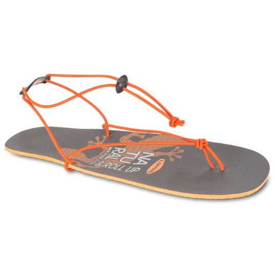 Sandali Lizard Roll Up Sandals (Grey/Orange)