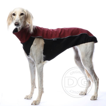 "MAGLIETTA ""DG OUTDOOR SOFT SHELL TOP"" BORDEAUX PER PLI, WHIPPET, LEVRIERO"