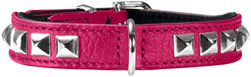 HUNTER COLLARE IN PELLE ROCKY PETIT FUCSIA 27 CM