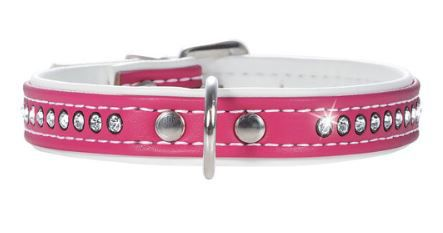 HUNTER COLLARE MODERN ART LUXUS FUCSIA/BIANCO CON STRASS