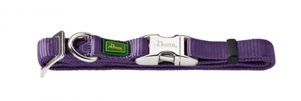 HUNTER COLLARE NYLON VARIO BASIC ALU S VIOLA