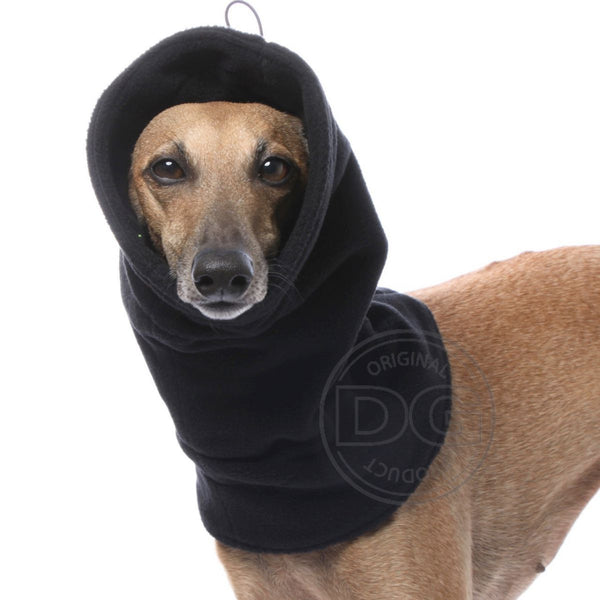 "SCALDA COLLO IN PILE ""DG FLEECE SNOOD PLUS"" NERO PER PLI, WHIPPET, LEVR"