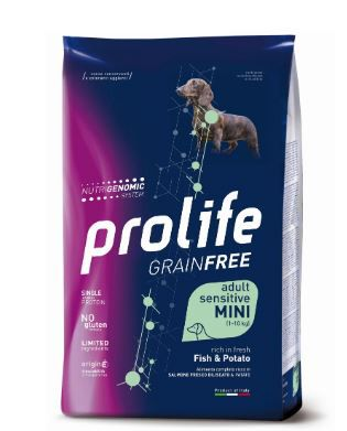 "PROLIFE ""GRAIN FREE"" CROCCHETTE CANE ADULT SENS. FISH & POTATO MINI"