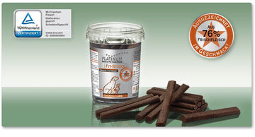 SNACK PER CANE IN BARATTOLO PLATINUM FIT-STICKS CHICKEN E LAMB