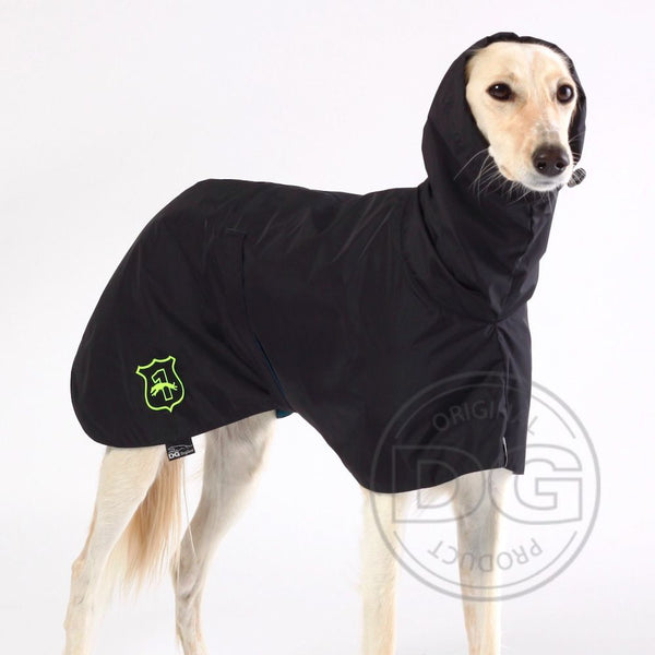 "IMPERMEABILE ""DG BASIC RAINCOAT LIGHT"" PER PLI, WHIPPET, LEVRIERO NERO"