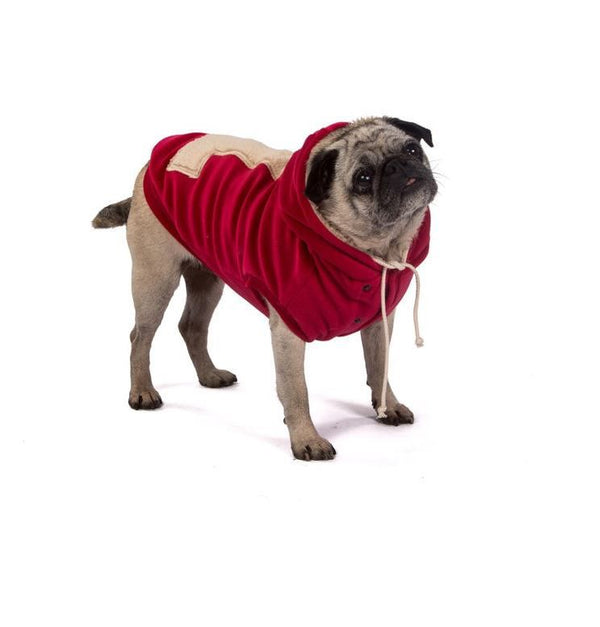 I LOVE MY DOG FELPA WARM SWEARSHIRT SANTA'S RED