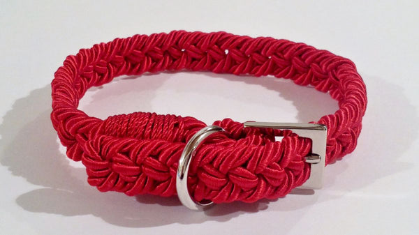 "COLLARE INTRECCIO ""ITALIAN ROPE"" RED PASSION"