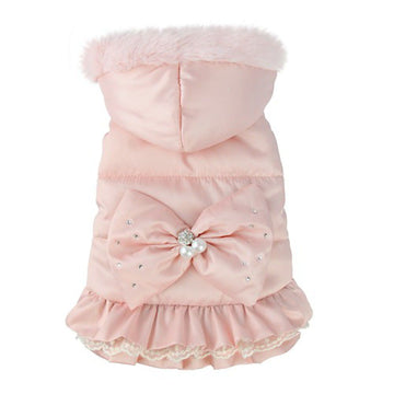 CAPPOTTINO PRETTY PET ELEGANT HOODED COAT ROSA XL