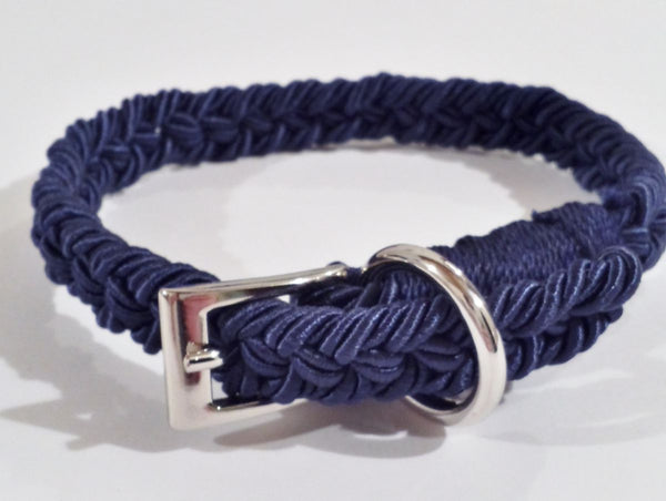 "COLLARE INTRECCIO ""ITALIAN ROPE"" BLUE MARINE"