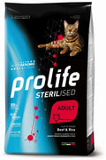 PROLIFE CAT STERILISED BEEF E RICE