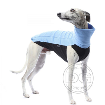 "MAGLIETTA ""DG OUTDOOR FLEECE TOP"" SKY BLUE PER PLI, WHIPPET, LEVRIERO"