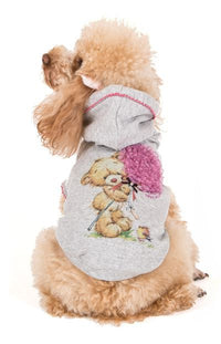 "MAGLIETTA I LOVE MY DOG ""SWEATSHIRT HUGME"" ROSA"