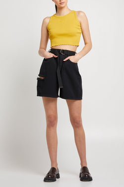 Dimi Short - WASHED BLACK
