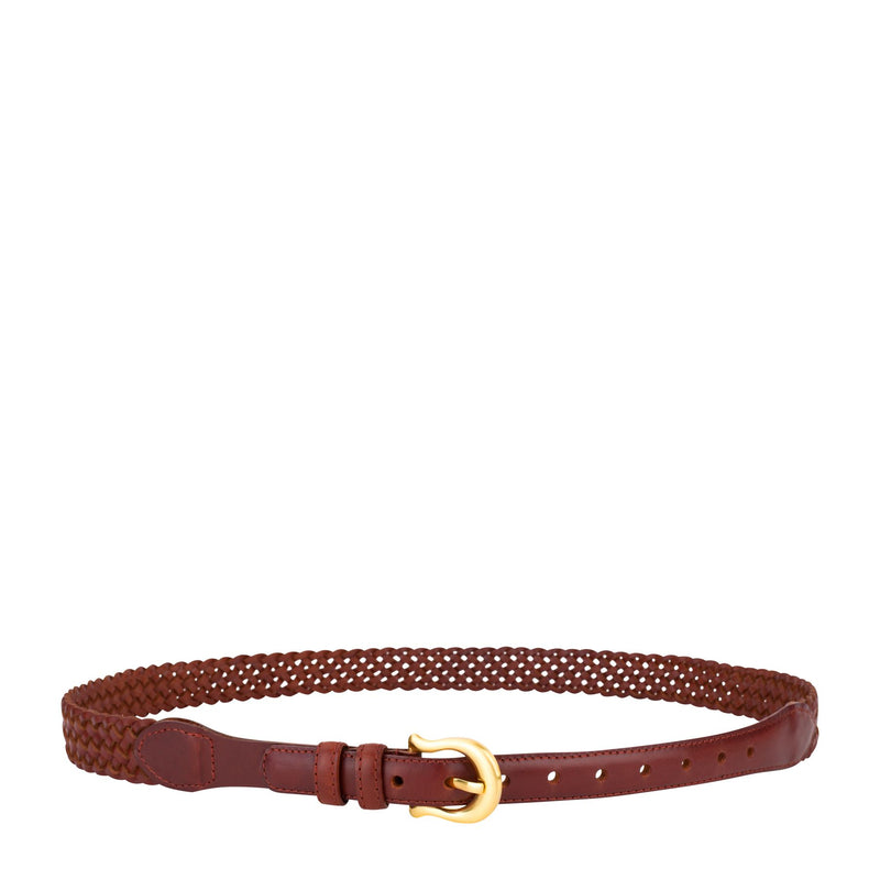 The Daria Woven Belt - VINTAGE TAN