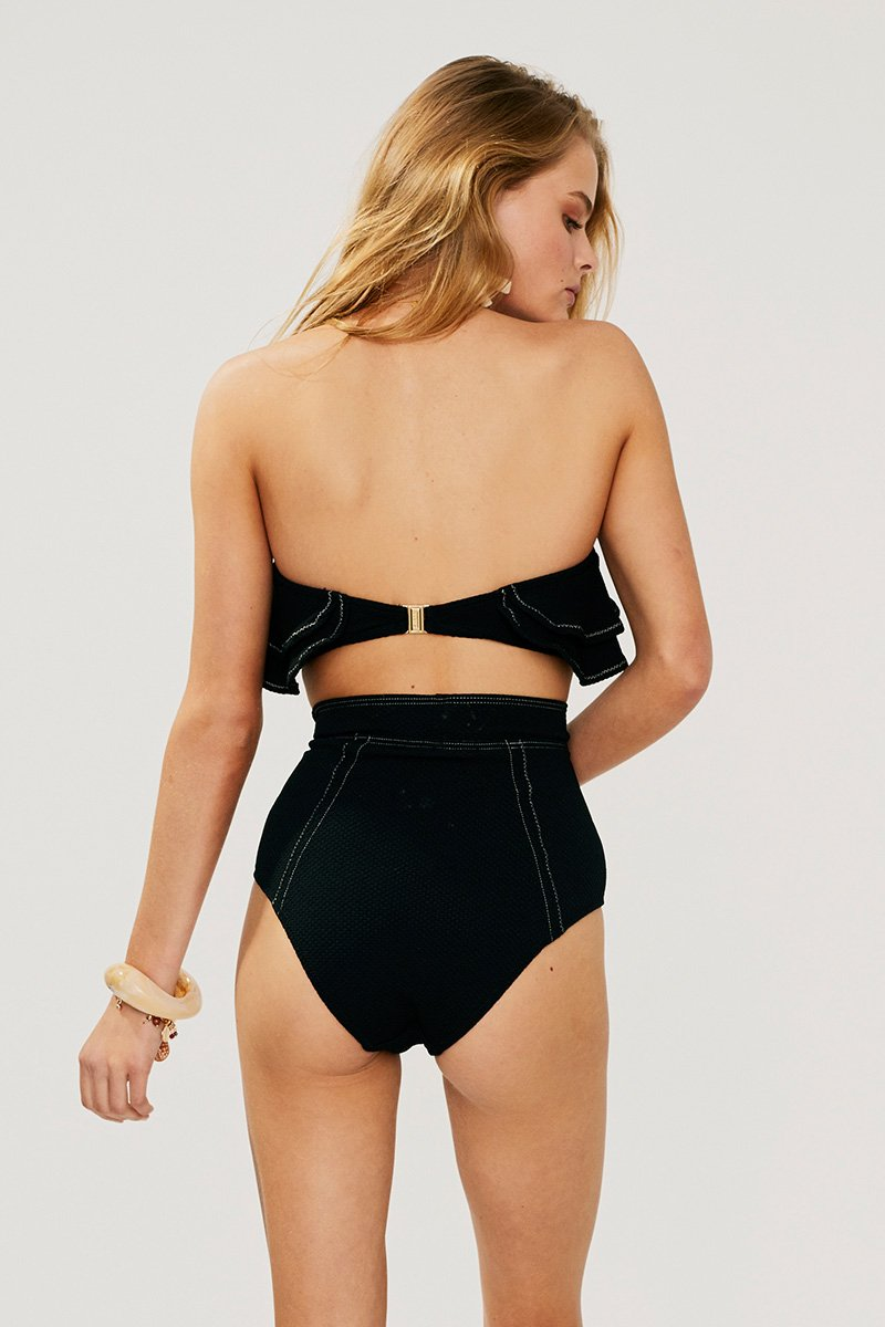 Kaia High Waisted Bottoms - BLACK