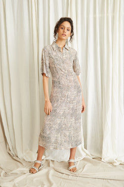 Intrepid Midi Shirt Dress - MARRAKECH