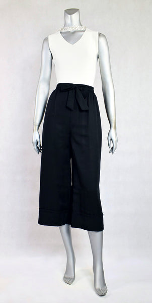 A1-Pants with Fold & Ribbon