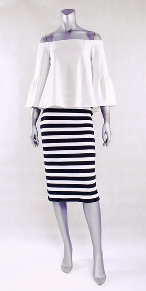 B2-Stripe Classic Pencil Skirt