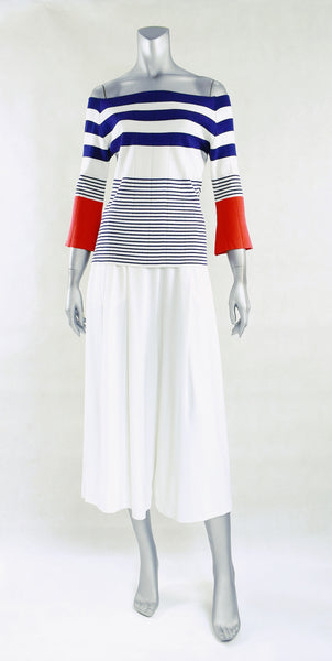 C3-Irregular Stripe Off Shoulder