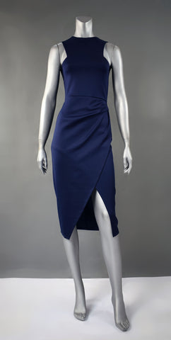 D4-Halter Overlap Dress