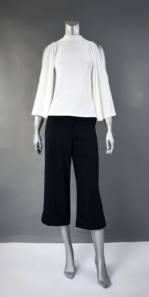 A1-Cropped Pants with Cuff