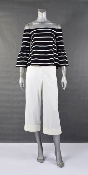 C3-New Stripe Offshoulder