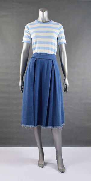 B2-Denim Skirt With Pleat