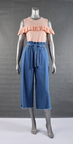 A1-Denim WidelegCulottes