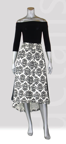 S2-Paisley Hi Low Skirt