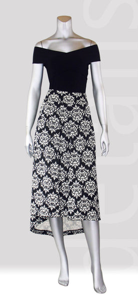 B2-Paisley Hi Low Skirt