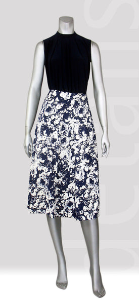 B2-Floral Pleat Skirt