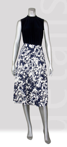 S2-Floral Pleat Skirt