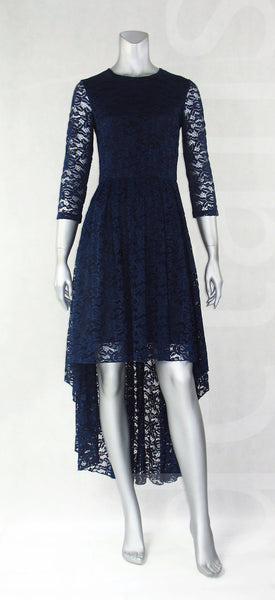 E5-Lace High Low Maxi