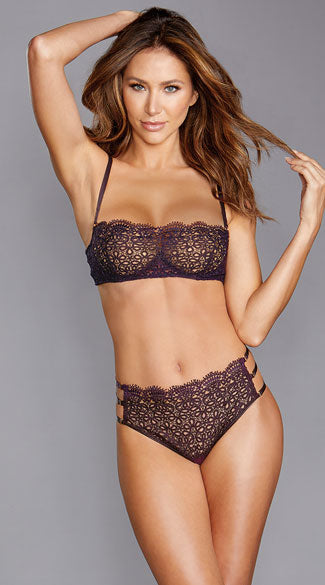 WHAT DID YOU CROCHET BRA SET - SMALL