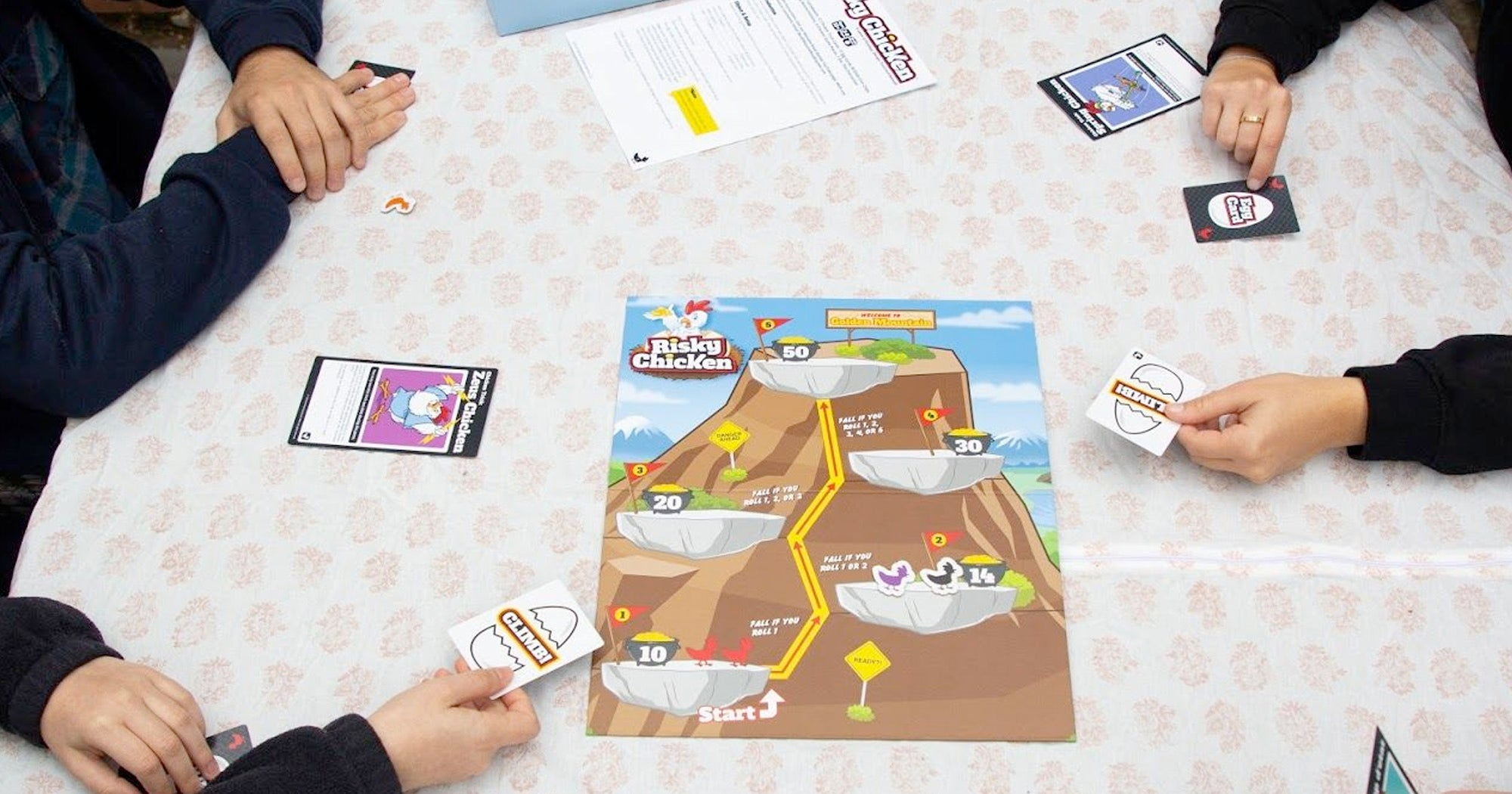 Tabletop Board Game Risky Chicken