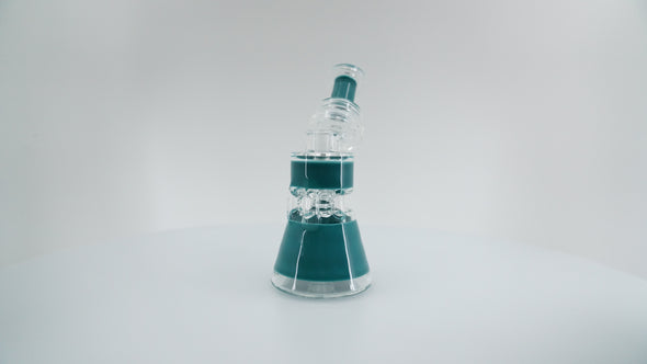 Ferri Glass Dragoon Half Color Recycler (Assorted Colors) - FerriGlass -- SmokeShopGuys Glass