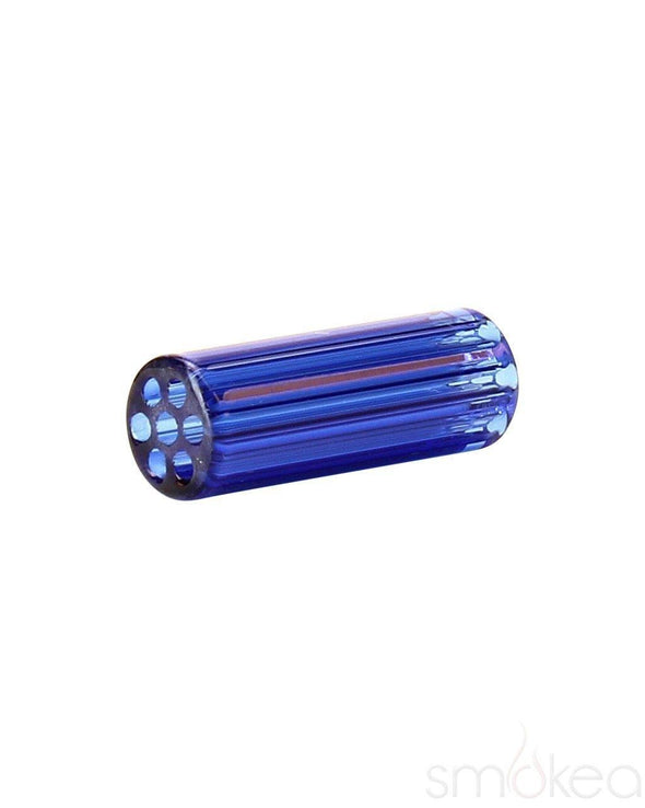 Blazing Blue Glass Honeycomb Crutches - SmokeShopGuys